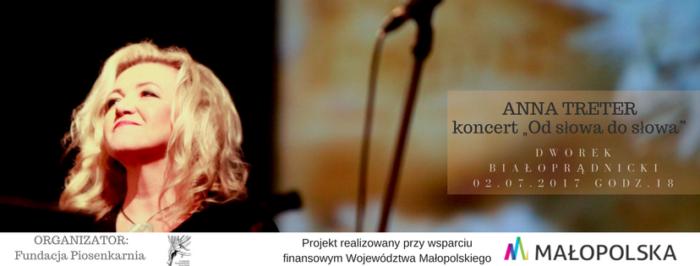 """ANNA TRETER koncert """"Od słowa do słowa"""""""